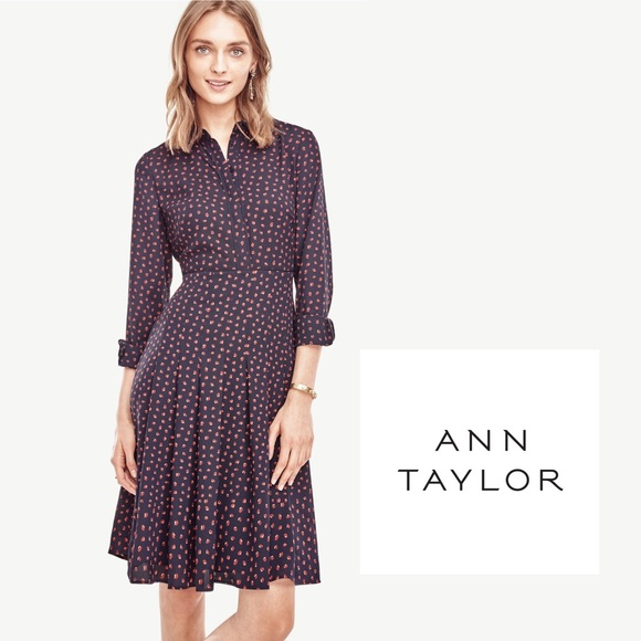 1b923b508bb Ann Taylor Dresses   Skirts - Ann Taylor🚘printed pleated swing dress Sz 12